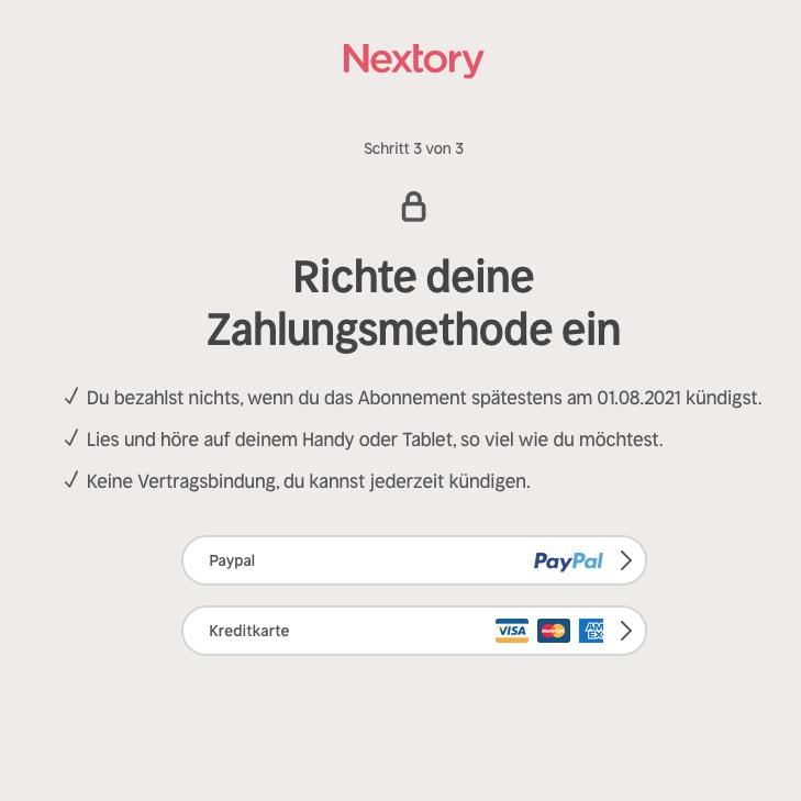 Nextory kostenlos testen