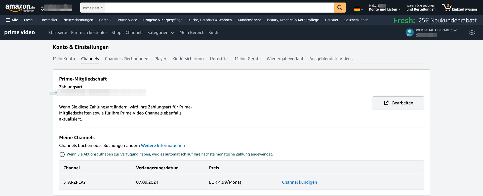 Amazon Prime Video Channel kündigen