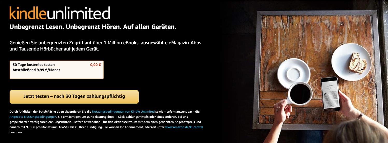 Amazon Kindle Unlimited kostenlos testen