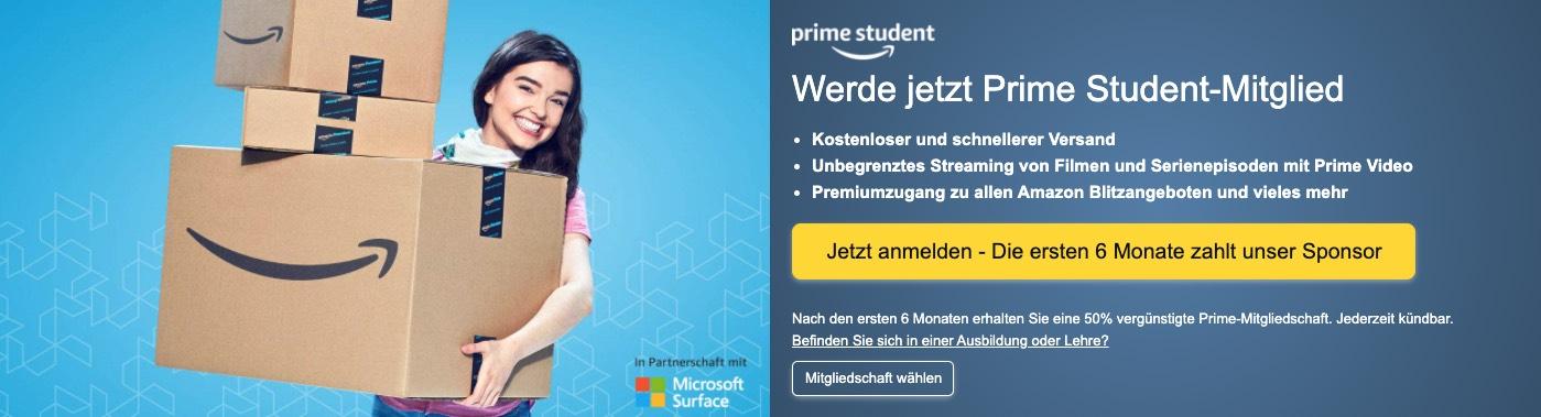 Amazon Prime Student kostenlos testen